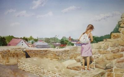 Marysia na Zamku w Inowłodzu